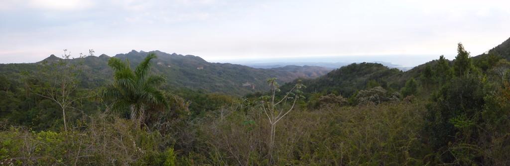 Amazing view towards the Caribbean sea