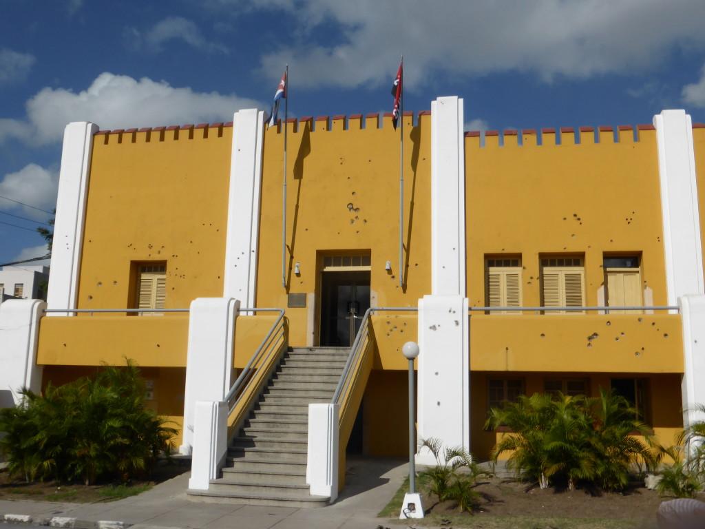 Moncada Barracks with bullet holes