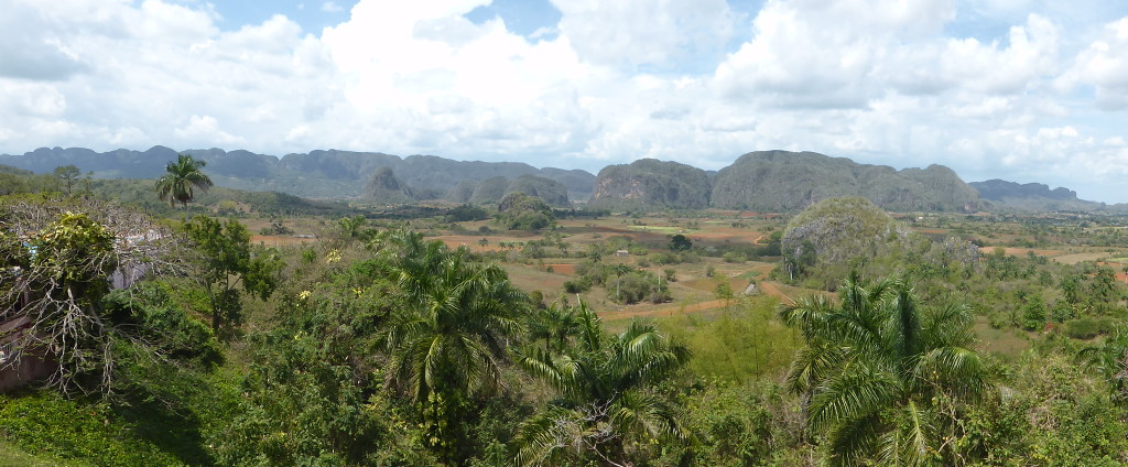 Panorama of the Vinales landscape