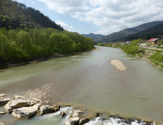 River passing through Skole
