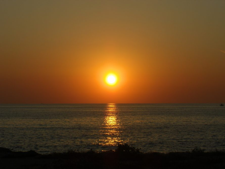 Paphos Sunset in Cyprus in October