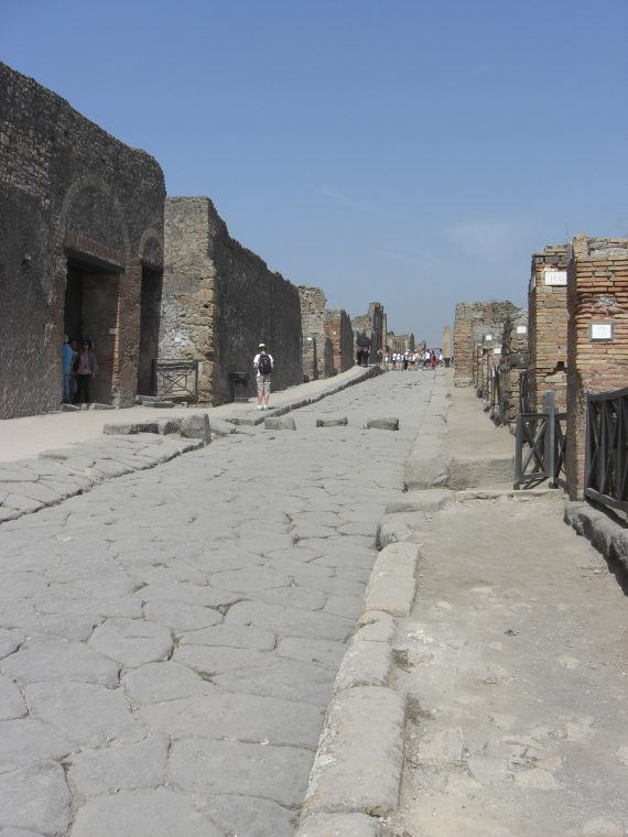 Walking on old Roman road in the heat