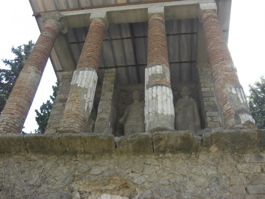 Columns and statues