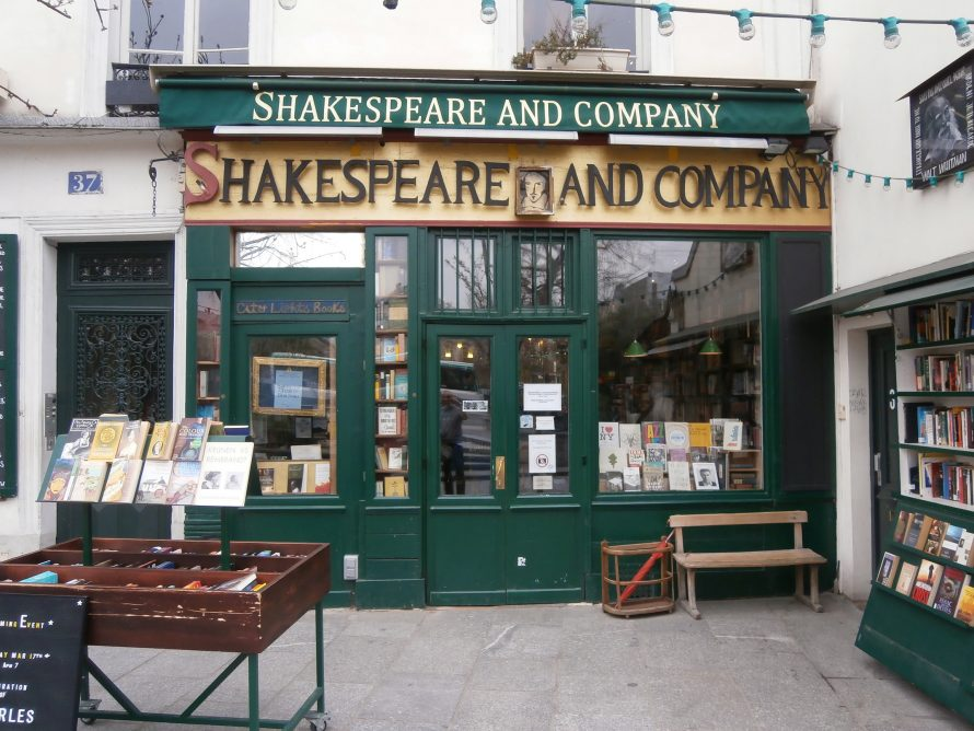 Cool and old style English bookshop
