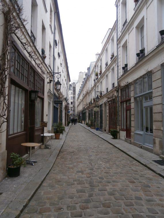Random cobblestone street