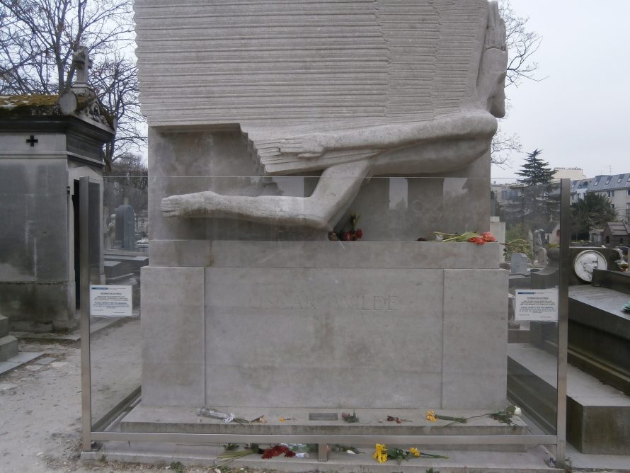 The tomb of Oscar Wilde in Père Lachaise Cemetery