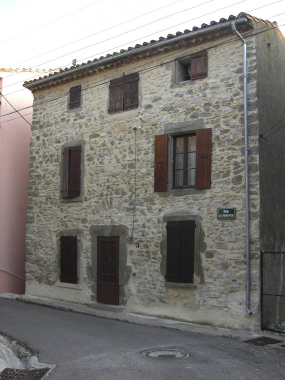 House in Paraza village in Languedoc-Roussillon
