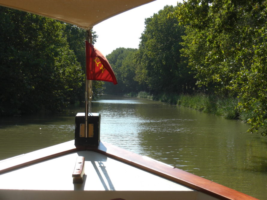 Occitan cross on boat