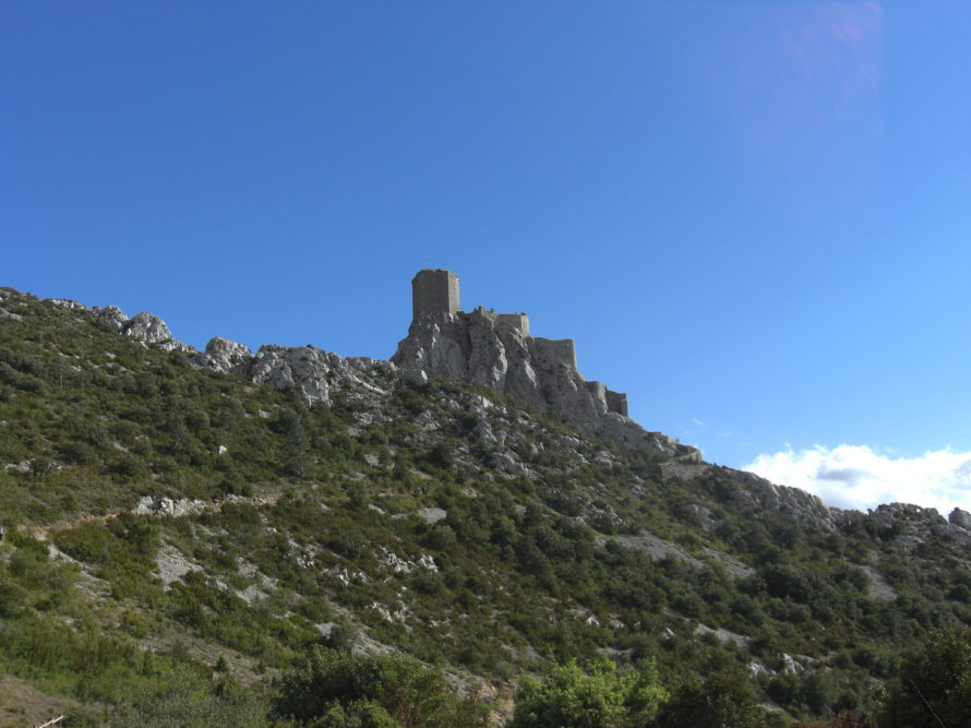 Approaching the castle remains