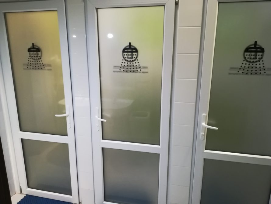 Individual shower room cubicles
