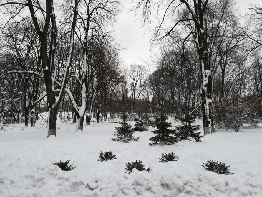 It wouldn't be Christmas in Kyiv without snow!