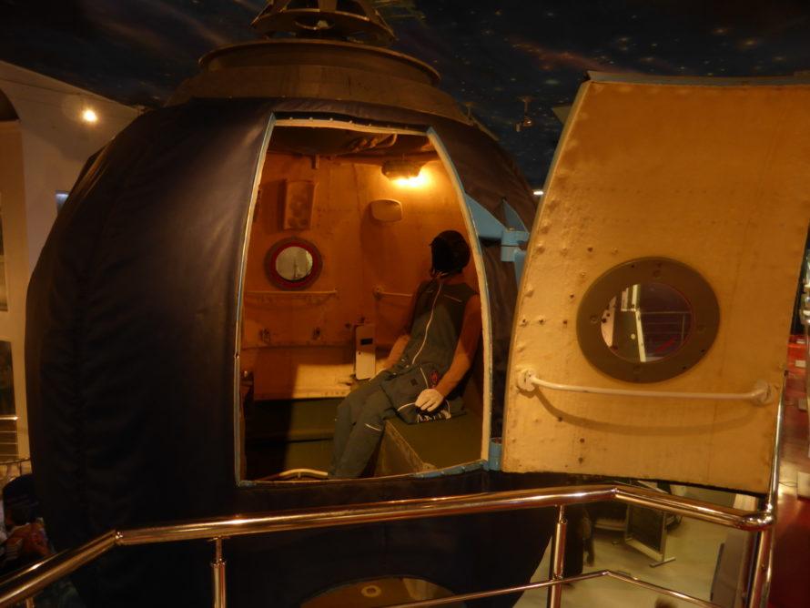 The habitable module of a Soyuz craft