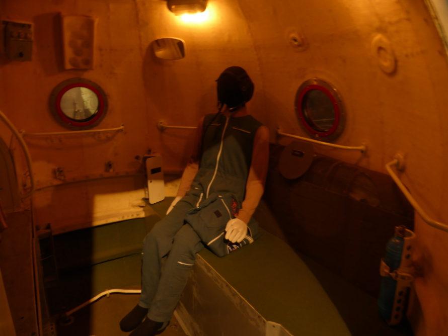 A lone occupant in the module
