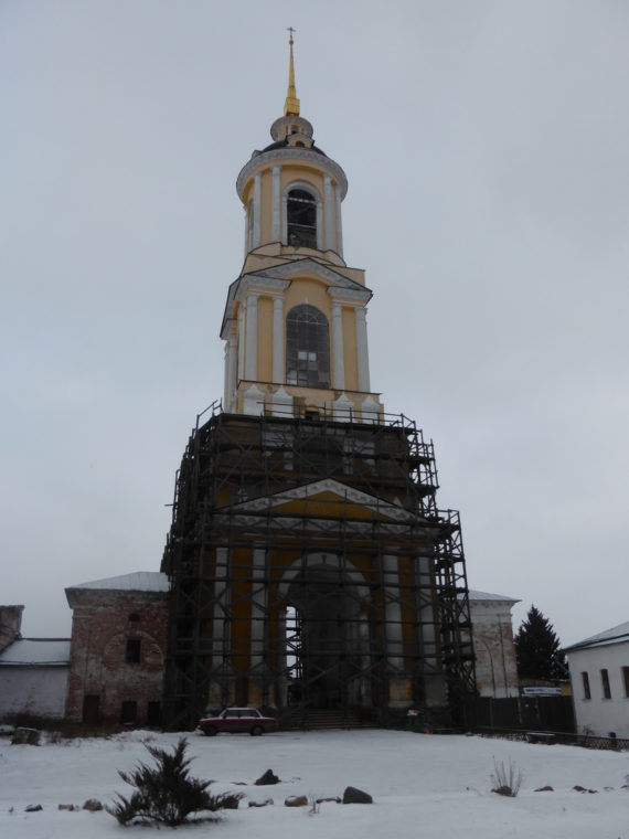 Bell tower being restored