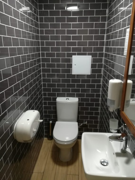 Spotlessly clean toilet