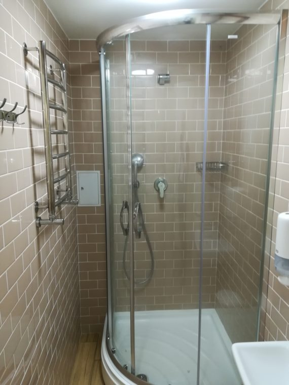 And an impeccable shower room too