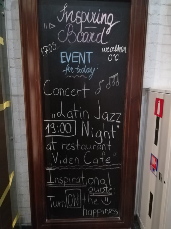 Daily events at the hostel